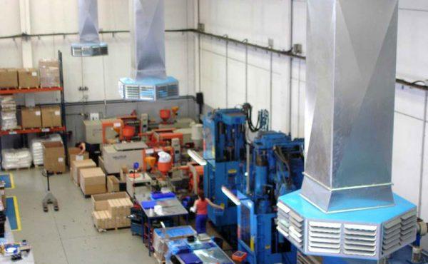 Aire acondicionado industrial de alta gama para aclimatar grandes áreas a un bajo costo energético: refrigeración variable y evaporativo de enfriamiento