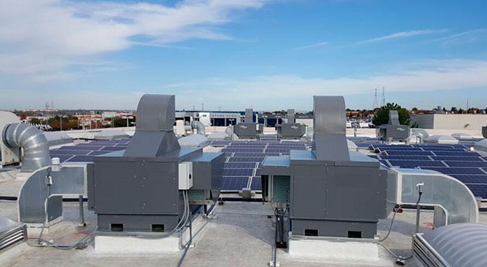 Aire acondicionado industrial central